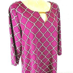 Charter Club womens 2X purple TUNIC top (X)E1